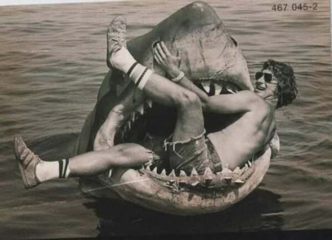 1975年, 進入大白鯊口中的導演史蒂芬·史匹伯