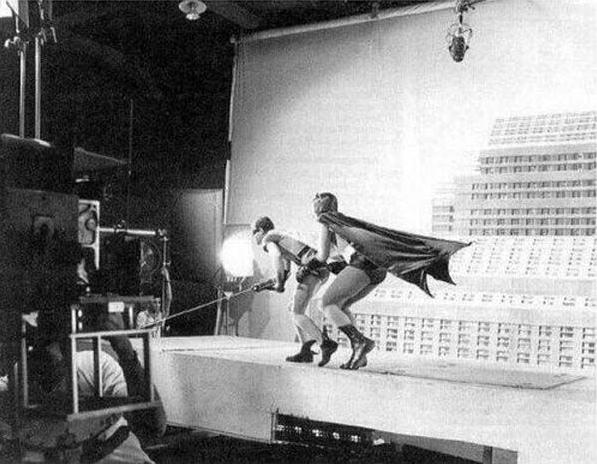 1966年, <蝙蝠俠> 拍攝現場