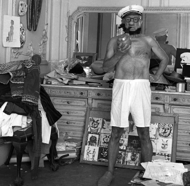 1957年, 化裝成卜派的藝術大師巴勃羅·畢卡索