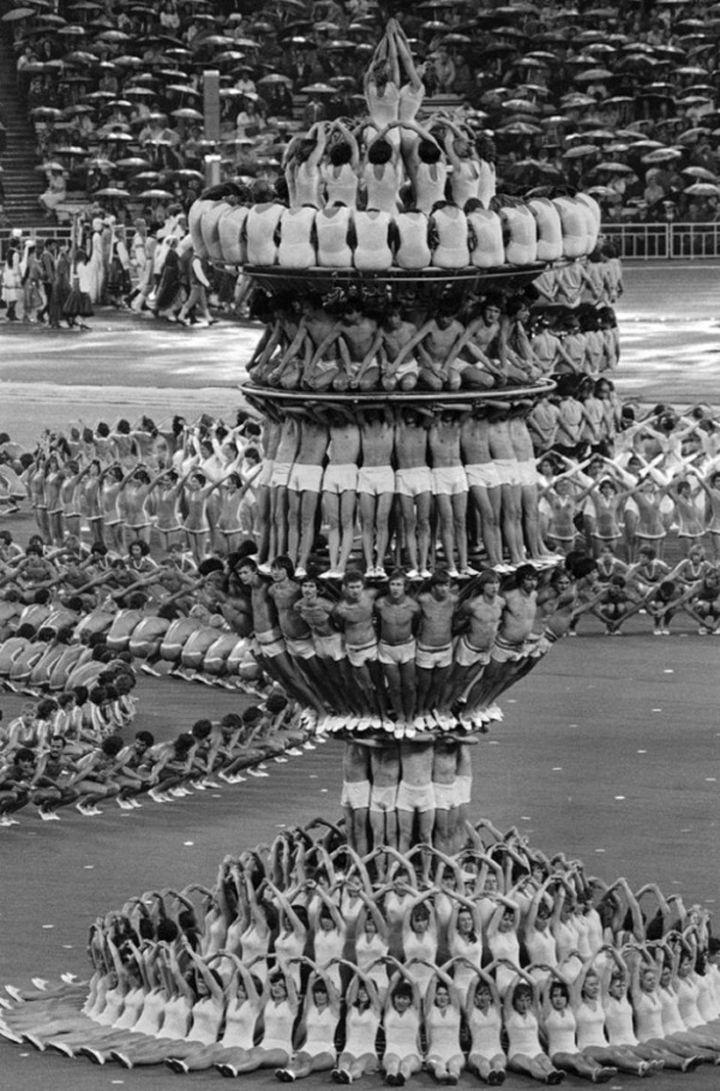 1980年,莫斯科奧林匹克運動會開幕式