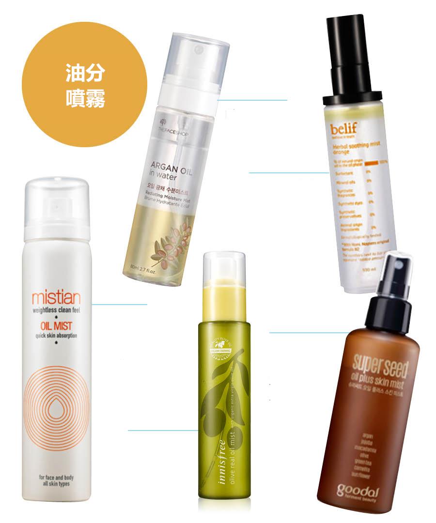 因為油分噴霧特別濃稠,也很容易沉澱,所以使用之前一定要晃勻,皮膚的水分和油分同時補充。