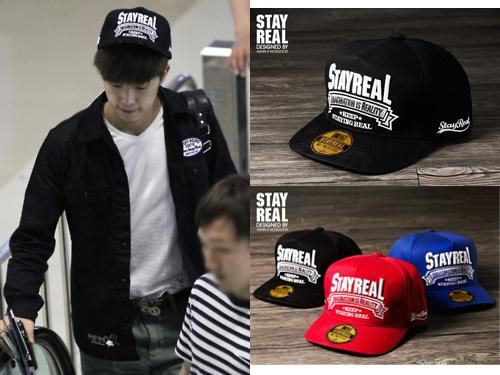2PM 成員祐榮戴的這頂帽子也是 STAYREAL 的喔! 大家有發現明星都偏愛這種簡單的設計嗎?(已經列入購物清單了XD )