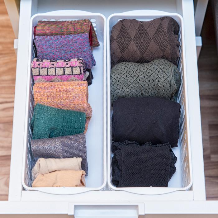 襪子放一起~整理的這麼整潔,是不是看著心情都變好了呢~