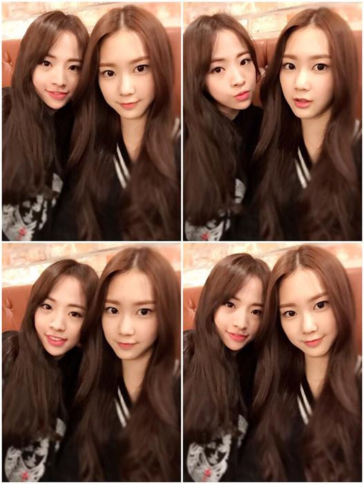 好想知道像Jin E 與Ji Ho一樣每天都這麼漂亮的話是什麼感覺。 以羨慕的心結束團體間的自拍照!