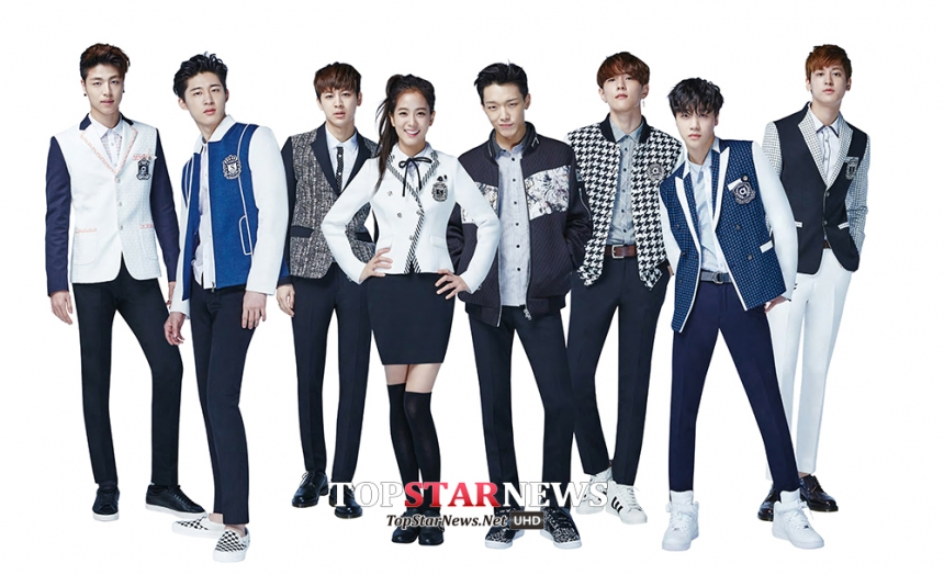 平常皮皮的iKON,搖身一變就成為制服品牌SMART的代言人!突然有一種貴公子上身的感覺~真想去這所學校巧遇一下學長們!