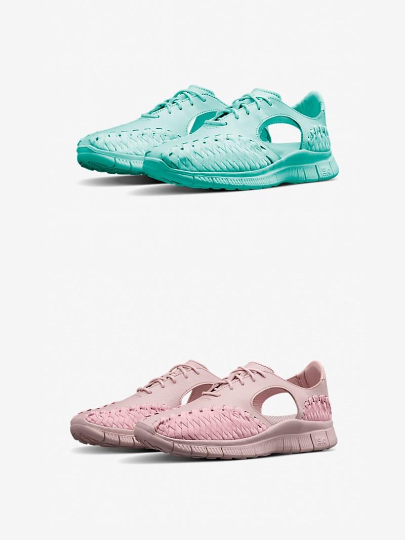 Nikelab 推出的Free Inneva除了黑白雙色,還有馬卡龍般的粉、綠兩款新設計,窄身的鞋型在跑步的時候更舒服,也不會悶熱!在Nike官網就買得到!