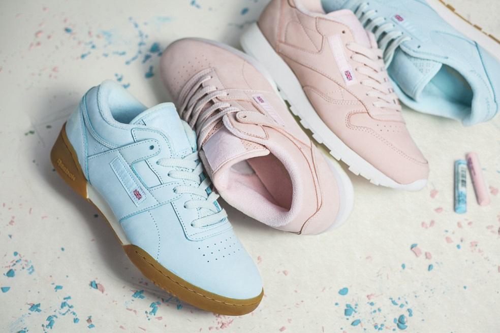 這款推出得有點早,是Reebok與英國潮鞋專賣店Size? 合作的聯名款,粉嫩的牛奶色調推出後很快就變成熱賣款!
