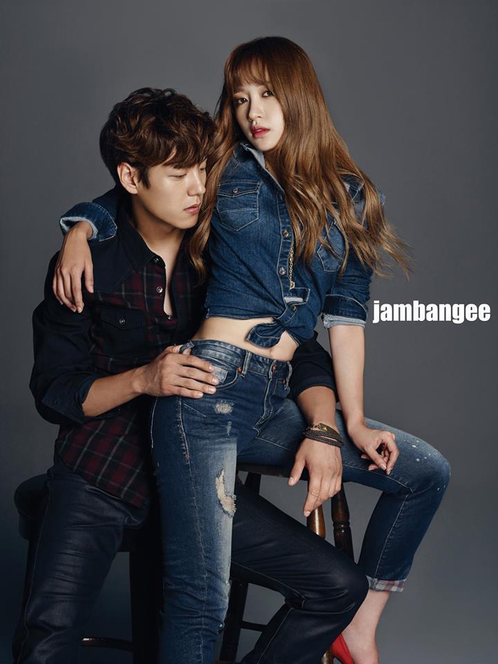 ♥Hani 因為上下舞讓Hani的蜜臀受到韓國男性注意,當然也有接下牛仔褲代言囉!這張照片讓男粉絲們都超級羨慕郭時暘哈哈