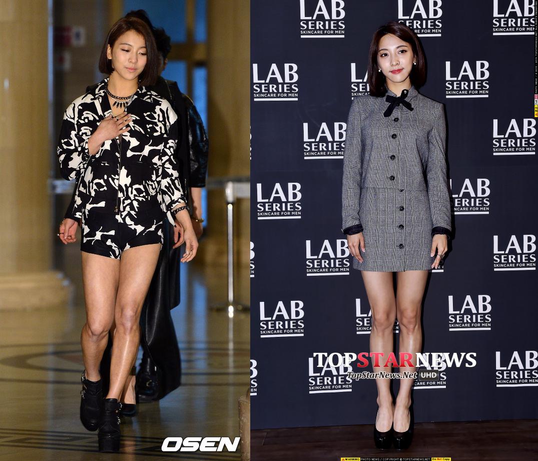 因為對比Before和After,韓媒驚呼Luna整個人似乎小一號,光看那大腿的粗細,也瘦太多了吧!