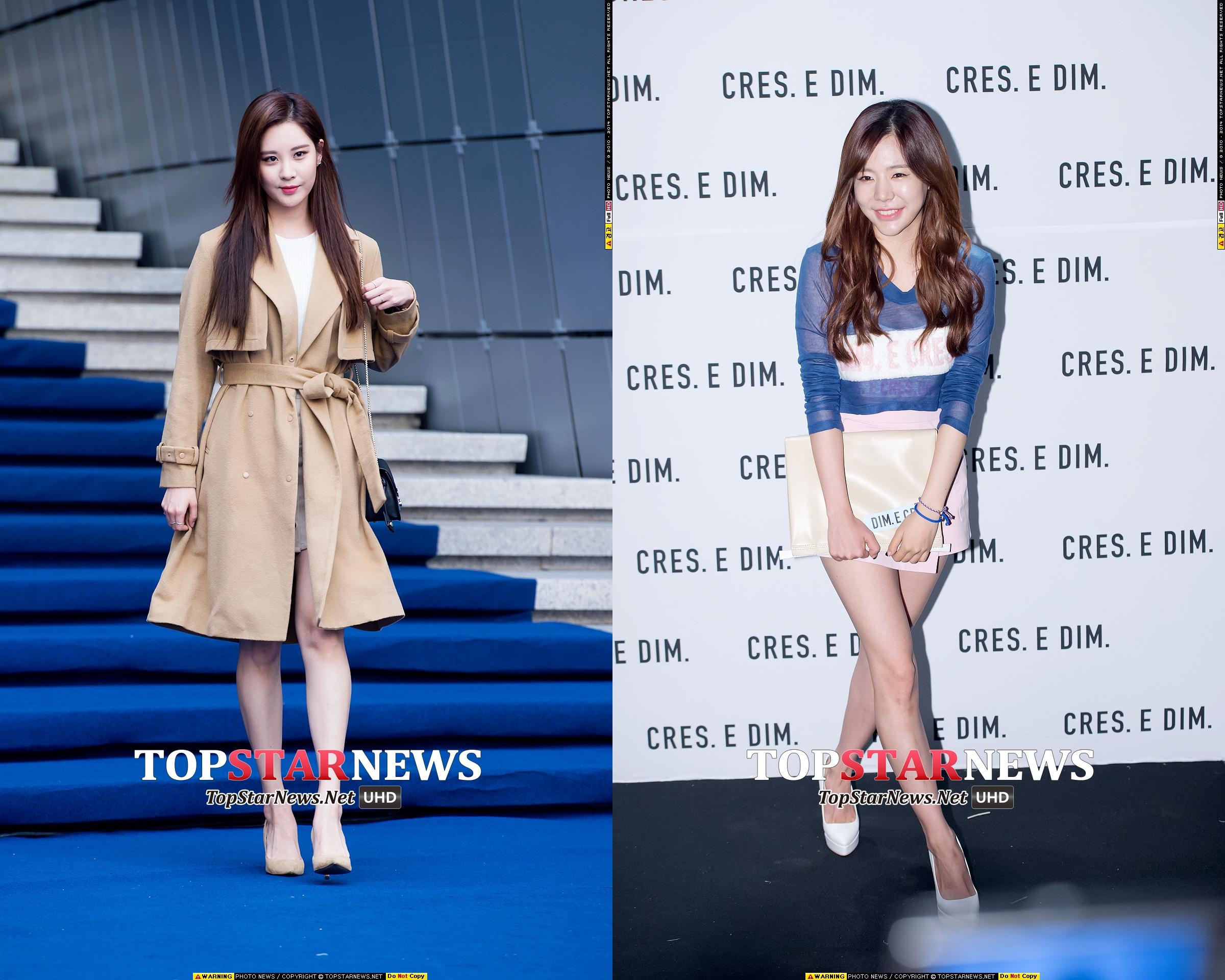 徐玄與Sunny也出席了時裝週,無獨有偶,兩人都在造型的選擇上以淡色、粉嫩的感覺為主題。
