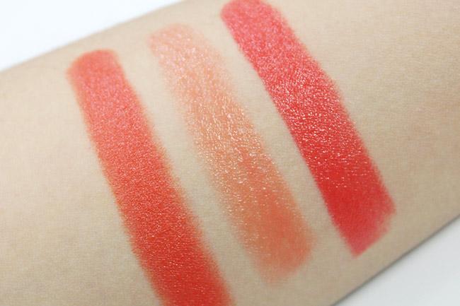 最左邊的是Chanel 的橘色口紅, 是不是很美?