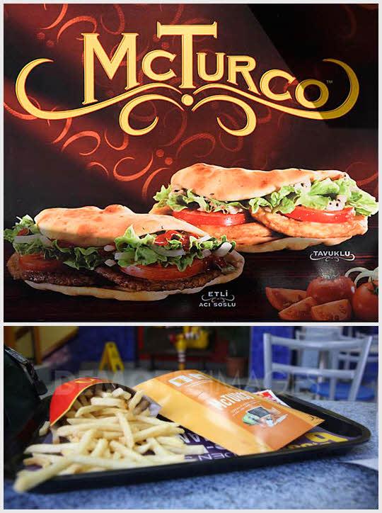 Mc turco - 土耳其 為了迎合愛吃捲餅的土耳其人口味量身定制的漢堡  10里拉(約110新台幣)