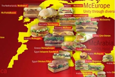 麥當勞的世界地圖...看來所有人都抵擋不住美食的進攻呀!XDDDD~
