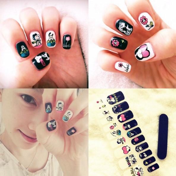 太妍的指甲彩繪比較多圖案,可愛的風格增加了少女感