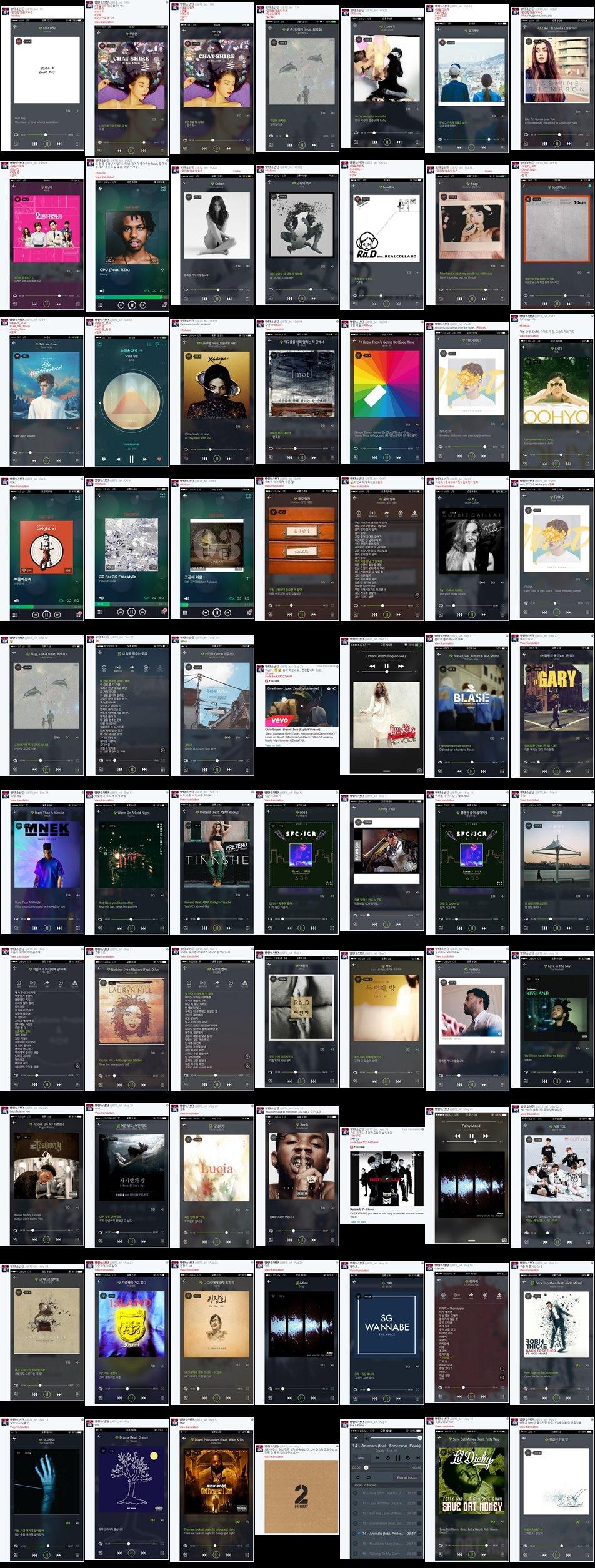 只截到70首他們推薦的歌曲小編就已崩潰,小編開放機會讓粉絲們挑戰看有誰能收集完畢XD