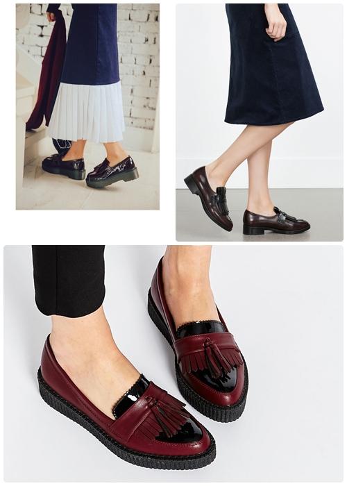 莫卡辛鞋無論是工作、上課或是休閒時都很百搭的鞋款,沉穩的色彩與特殊前頭設計,可以襯托白皙、細緻的腳踝喔。