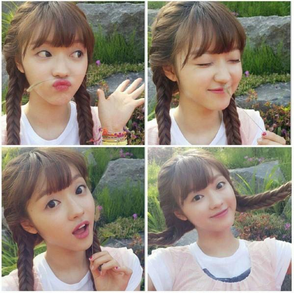 負責領唱和主領舞的YooA,韓國網民覺得她長得很妙,擁有像是洋娃娃般的臉龐。