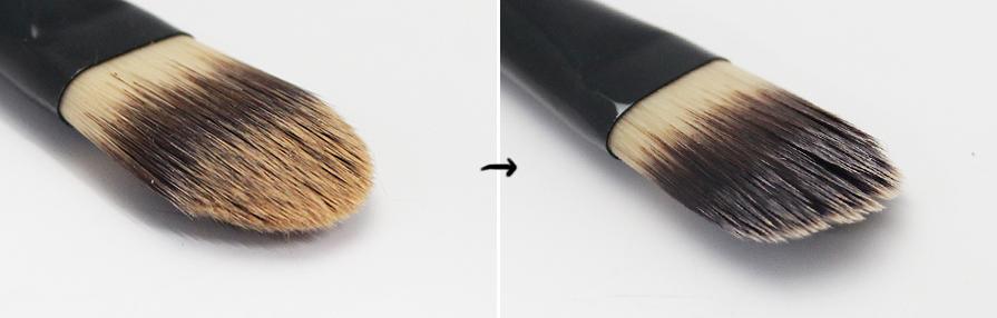可以的話刷子盡量一個禮拜清洗一次會比較好.  那樣才可以避免彩色化妝品的顏色染到刷子上!