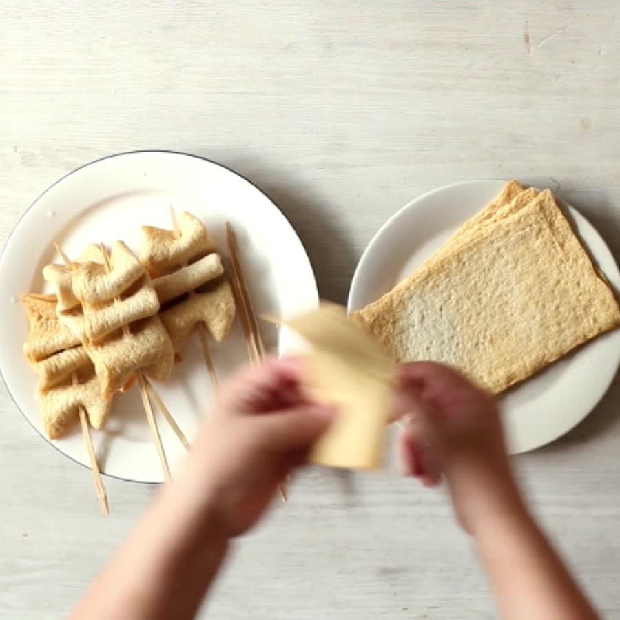 照著這樣的形狀串魚糕片....其實是可以自己發揮的XD