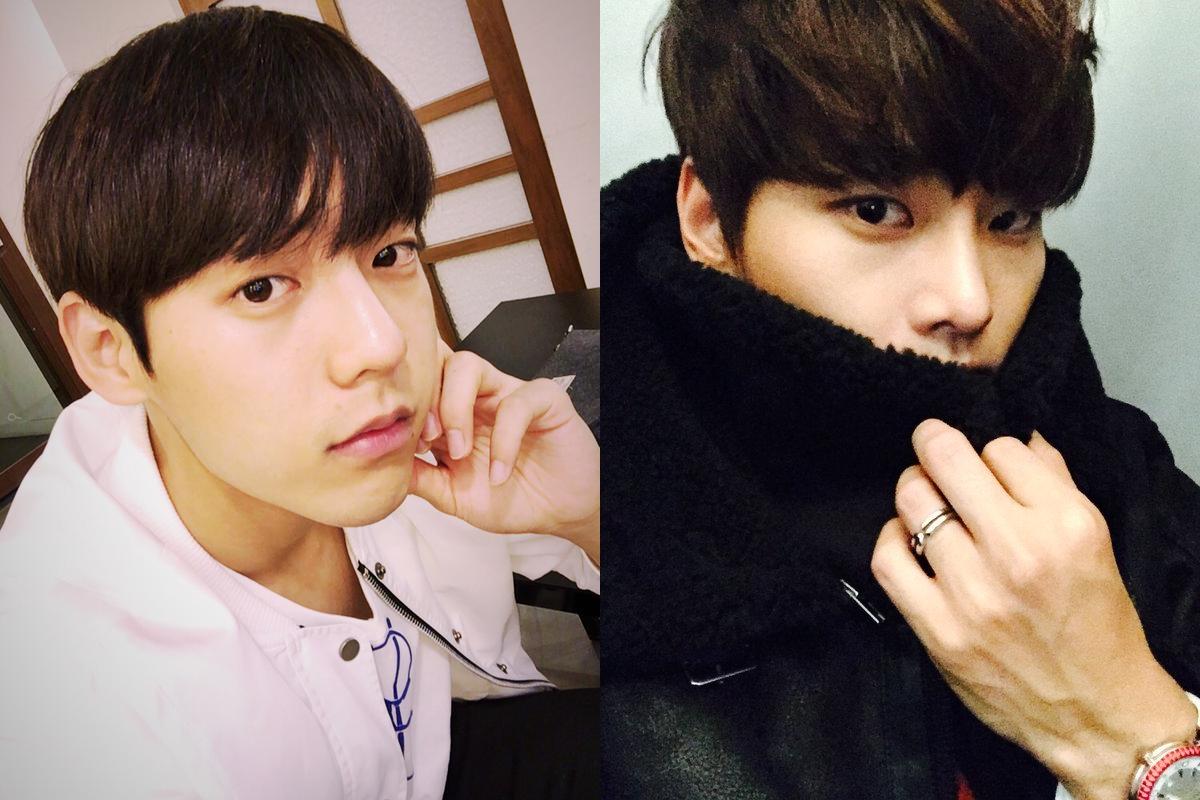 ★ BTOB 旼赫 & VIXX N ★  接下來也是 90 Line 的旼赫和 N。