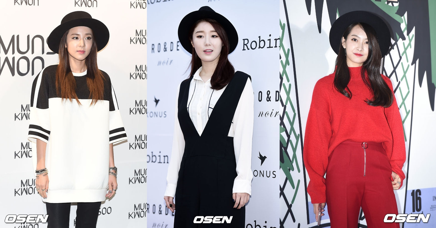 從去年開始,在秀場上不斷出現的黑色寬沿帽,由Dara、Victoria、歌手Navi 三種風格的女星戴起來,各呈現截然不同的色彩。
