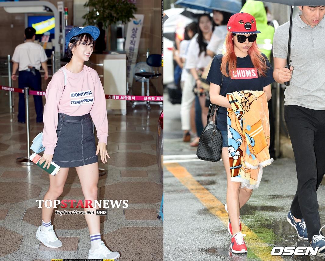 不只如此,惠利和Sunny的搭配顯示出女孩其實很適合色彩繽紛,可愛俏皮的棒球帽!
