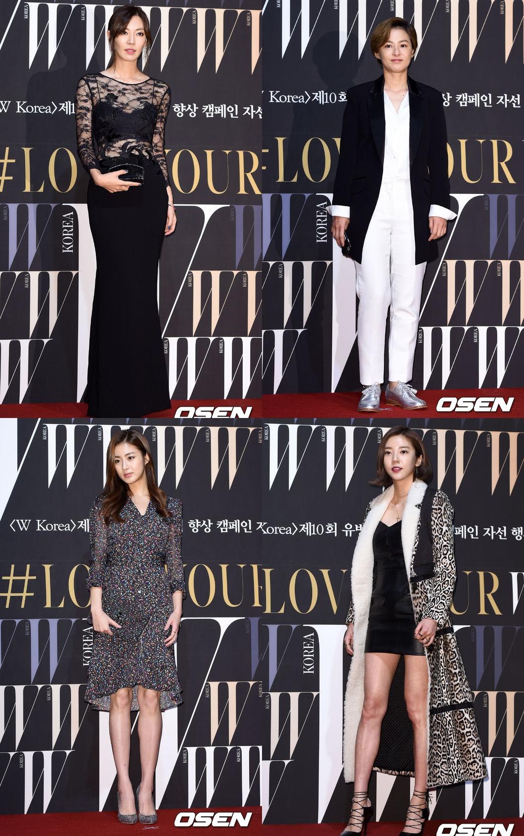 由左至右,由上至下分別是金素妍、姜惠貞、姜素拉、孫淡妃,四位廣為人知的美女代表作了4人4色的最佳表現。