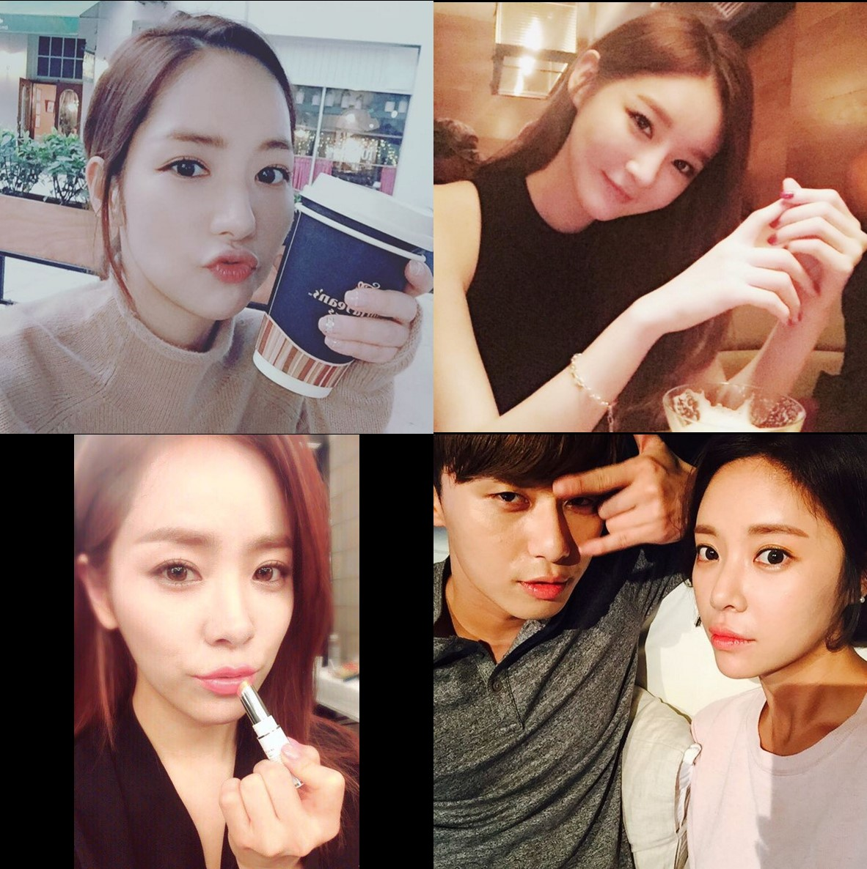 朴敏英、姜珉耿、韓志旼還有黃靜茵也是很標準的美弧度額頭!(ㅅ˘ㅂ˘)