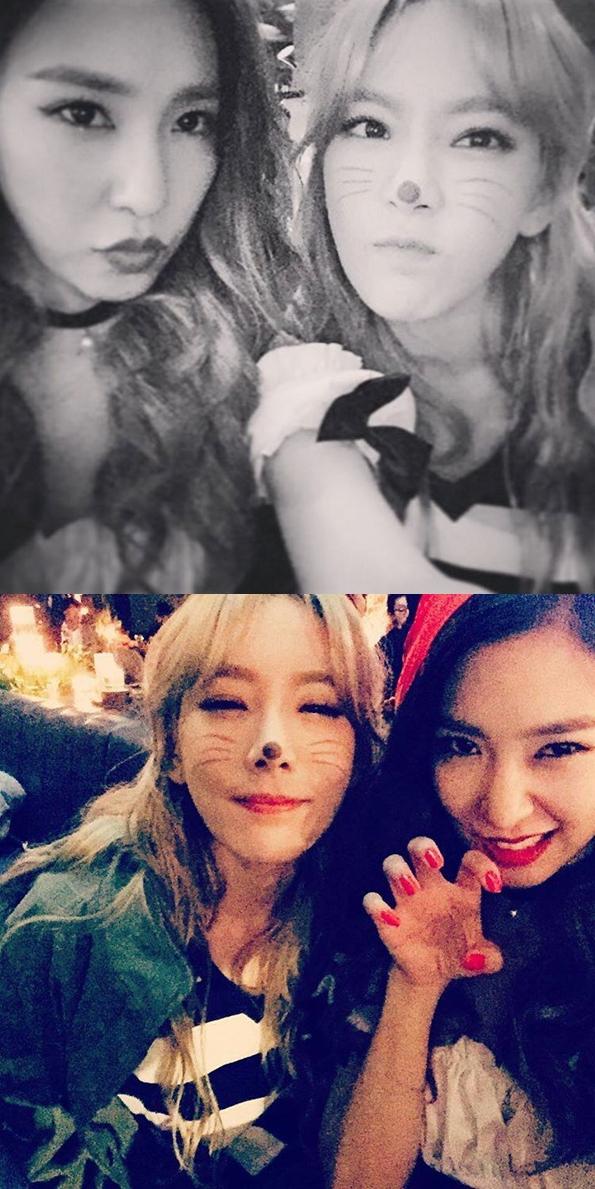 太妍和蒂芬妮扮什麼不重要,我只知道是 TaeNy ♥ 好啦~開玩笑的XD 蒂芬妮是扮成小紅帽,太妍這個應該就是小貓咪吧 ♥