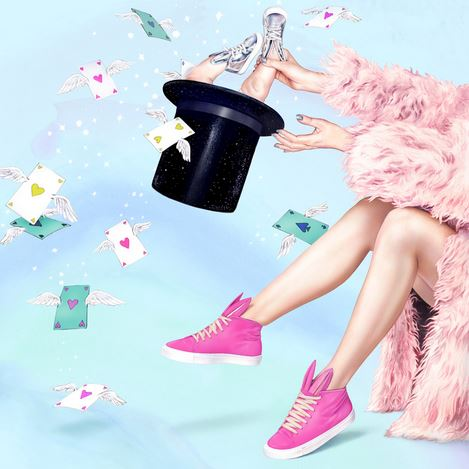 MINNA PARIKKA是同名設計師Minna Parikka在2006年所成立的品牌,暢銷鞋款是粉紅色兔耳休閒鞋。從MINNA PARIKKA的平面廣告,鮮豔大膽的用色,配合獨特的兔耳鞋,就能從中感受品牌的魅力。