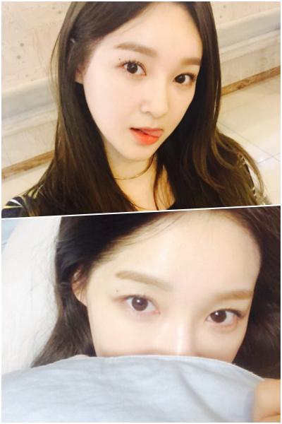 Davichi姜珉耿雖然遮住了部分的面容,但還是美女一枚無誤!