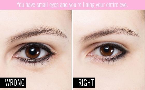 其實不只西方女孩,東方女孩在畫上眼線的時候也要注意粗細,雖然說在眼珠上方的線條加粗會讓眼睛看起來比較大,但是粗度也要適量,最好避免畫滿整個上眼皮,不然妝容看起來會太過over,也很容易沾到眼皮。