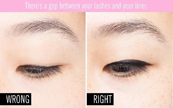雖然現在很流行細細長長的眼線,但是別因為它細長就忽略畫完留下的空隙啊!千萬別以為沒畫滿看起來沒差,其實在你眨眼或是閉眼的時候很容易就能看見白白的地方,所以不管是不是眼線筆有沒有削尖,都應該再檢查一次,不然被發現很糗哪!
