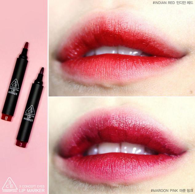 3CE的口紅也是深受李秀真的喜愛~不僅是顏色正,而且口紅外形也很受歡迎,唯一的缺點是有點乾,塗抹之前一定要先做好潤唇工作。