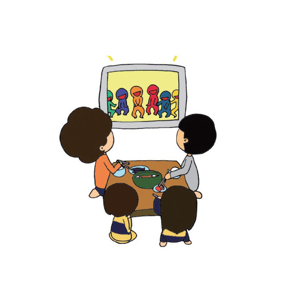日常生活中,我們常常都是邊看電視邊吃飯。