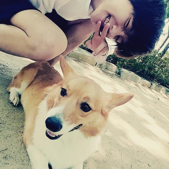 伯賢曾經在instagram曬過愛犬照,可愛的邊夢龍有如此可愛又帥氣的主人真幸福。:.゚ヽ(*´∀`)ノ゚.:。