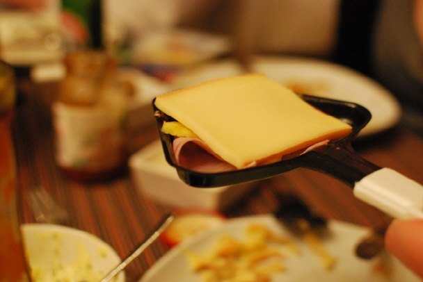 ⑤只有在冬季才能吃到的美食當然不能落下了!! 這裡給大家準備的是瑞士烤奶酪(Raclette)....☜
