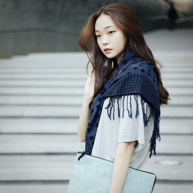 復古的流蘇設計,整個披在肩上,除了時尚,最重要的還是夠保暖