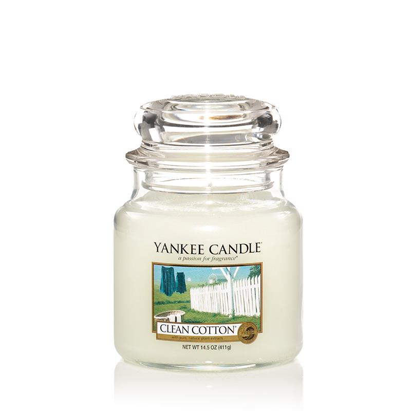 Yankee Candle清爽棉瓶中燭 像剛洗完衣服的清新味道 營造出舒服的親和力