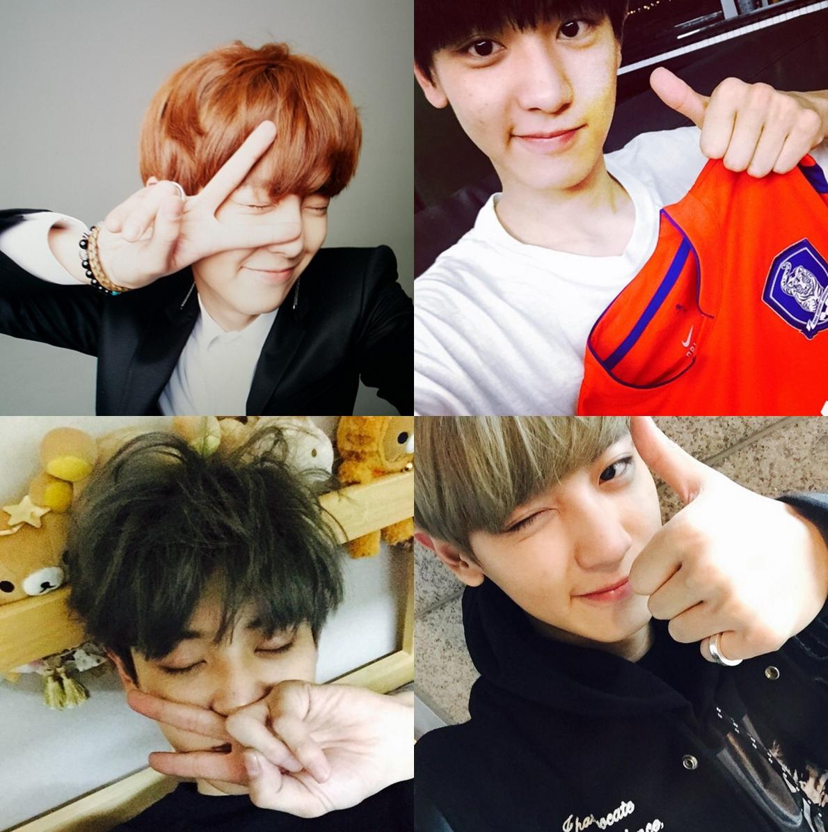 ★ EXO :: 燦烈 ★  接下來就是我們的剪刀手小王子燦烈,如果有關注他的 Instagram 就會知道,他真的還滿常發自拍照的,而且不管什麼角度都好看,果然顏質高怎麼拍都帥啊!