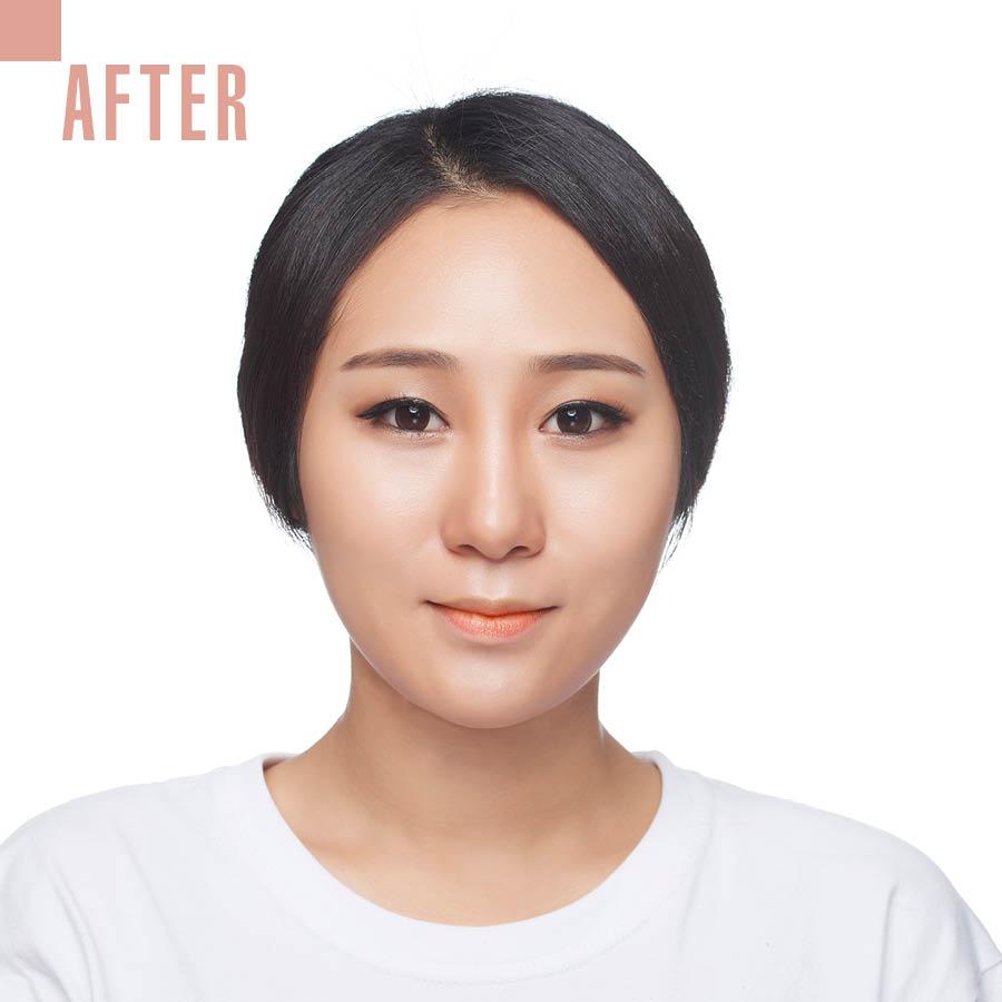 鏘鏘……Contouring Makeup大功告成!剛好跟秋天的大地色眼影很搭哎~~~