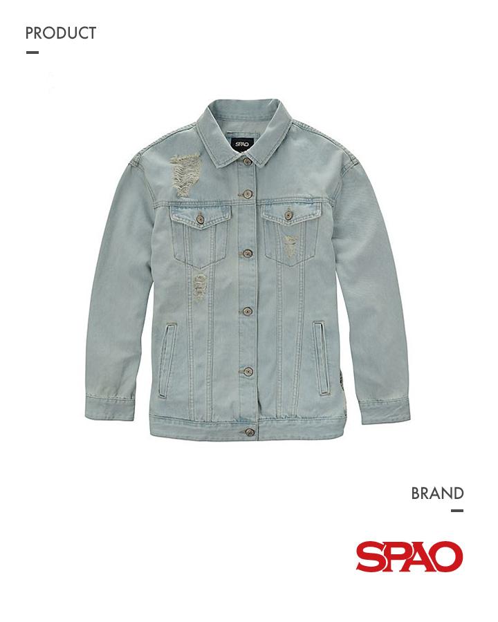 ▶女性破壞丹寧外套 | SPAO_商品編號:SPJE522G08 價格:約1500元台幣