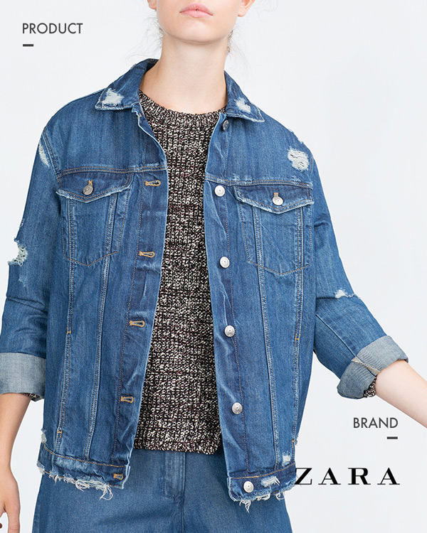 ▶ZARA over size牛仔外套 | 約台幣2700元_商品編號5252/250 高貴不貴 最近廣受台灣人喜愛的zara~