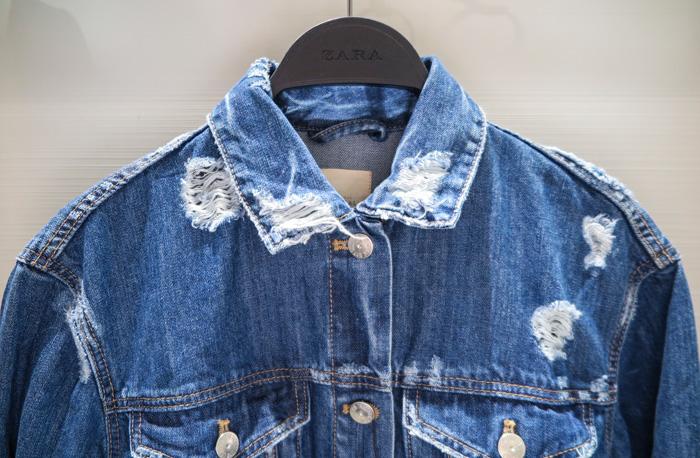 本來要穿很久才能帶出的丹寧布質感 被這麼一造型設計 新衣服也能看起來很有型