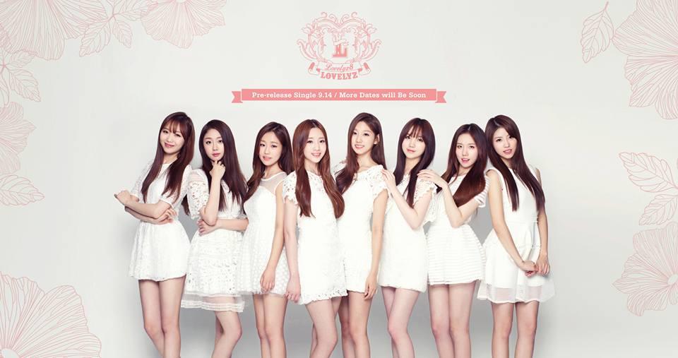 TOP 7. Lovelyz 首張迷你專輯《Lovelyz8》(2015/10/01) 專輯銷量: 11,750張