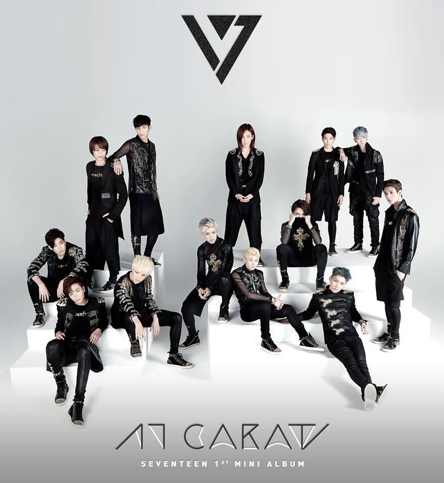 TOP 2. SEVENTEEN 首張迷你專輯《17 CARAT》(2015/05/29) 專輯銷量: 43,147張