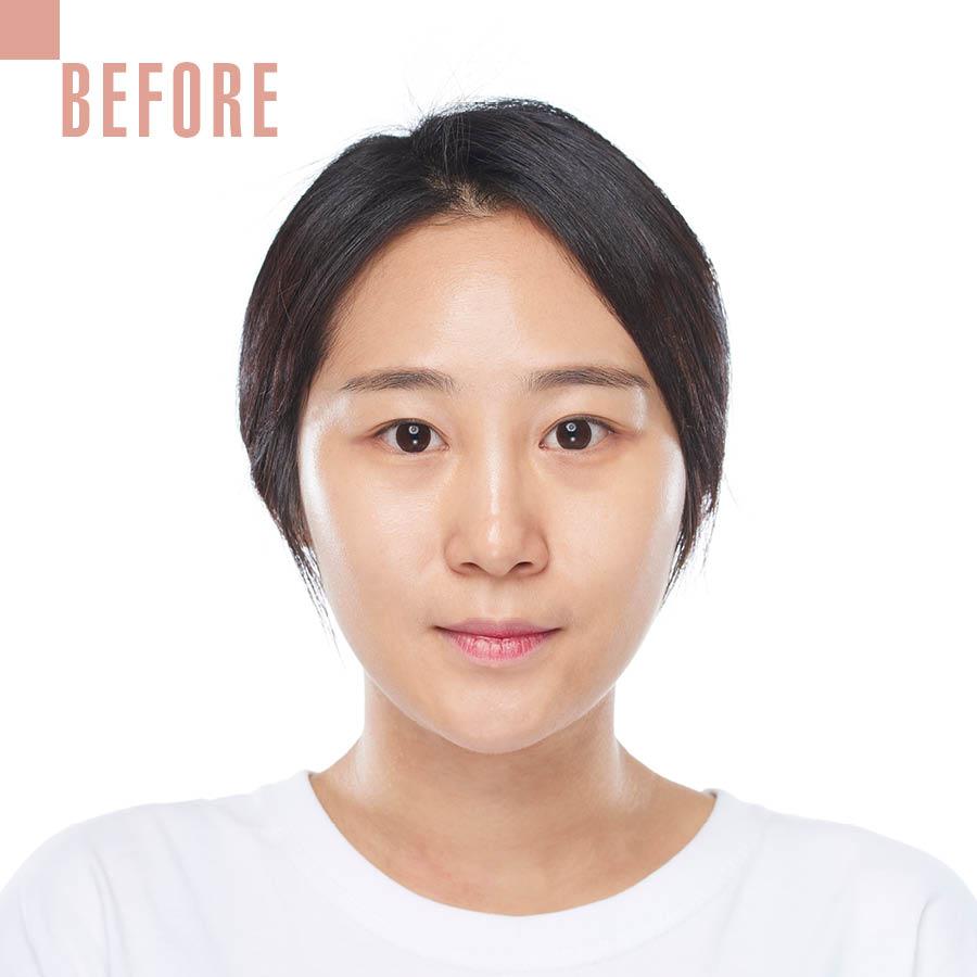 Strobing makeup中最重要的是讓毛孔或斑點不突出,皮膚看起來很細膩光滑~ 皮膚越好越光彩,效果更明顯...☆