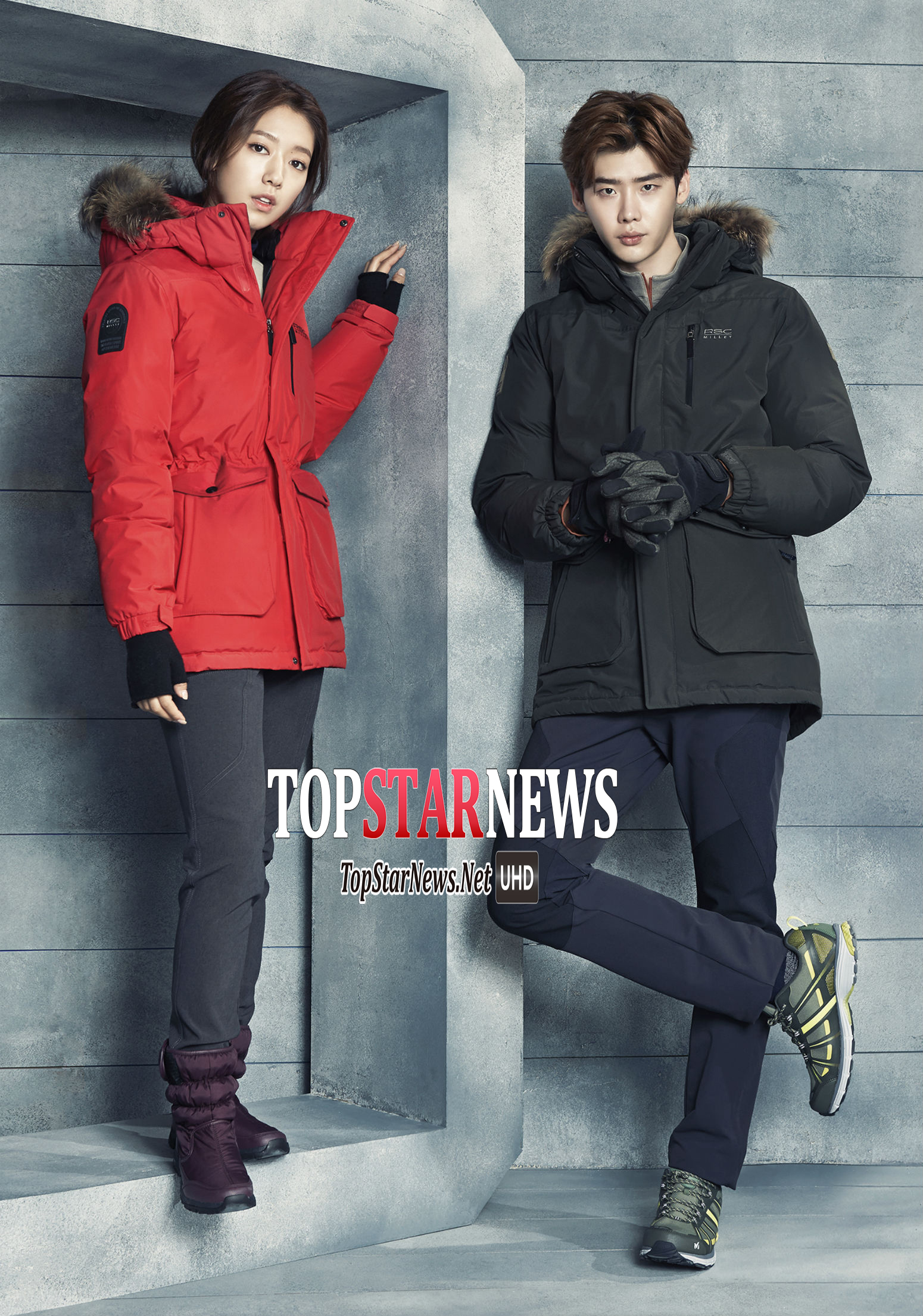兩個人的好默契更是讓拍攝的現場充滿歡笑 連小編看著看著 還沒穿上他們的登山外套 心就暖了起來啊!