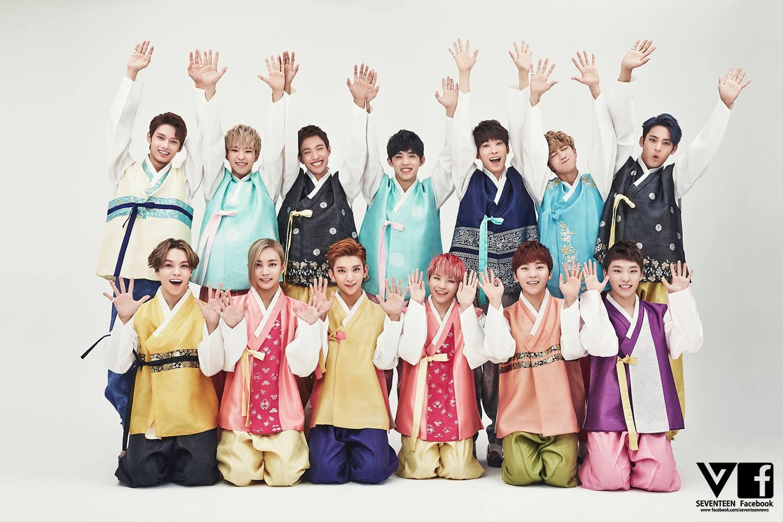 沒錯~他們模仿的正是最近紅不讓的13人男團Seventeen!山寨版取名叫做「SEVEN SCENE」~並安排了13個人的角色