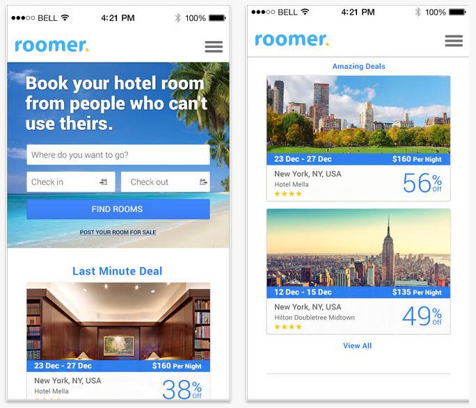 #4 Roomer Travel 這是一款幫助尋找便宜住宿的App,同時也能幫助想臨時退房卻擔心拿不回預約金的人,一個解套的方式!在這個App上可以查找到旅社評價與折扣住宿的價格!